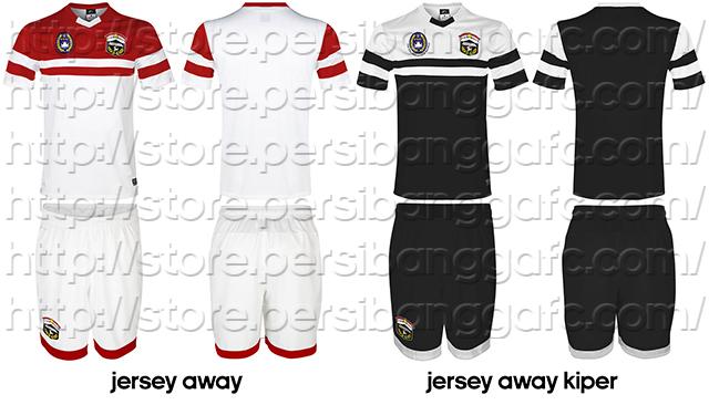 Jersey Persibangga Away dan Away Kiper