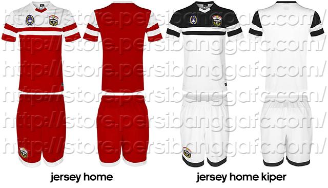 Jersey Persibangga Home dan Home Kiper