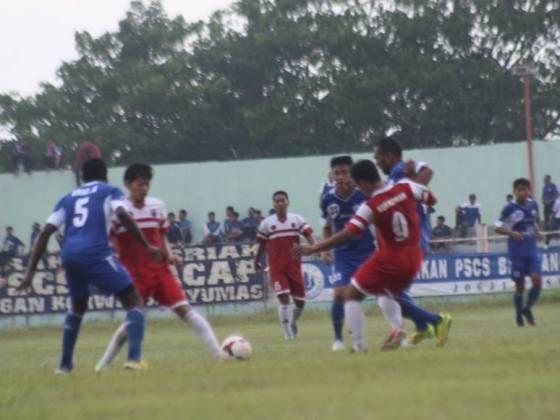Foto pertandingan Persibangga vs PSCS Cilacap